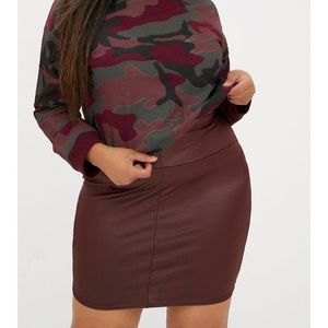 Leather Look Mini Skirt -NWT Pretty Little Thing